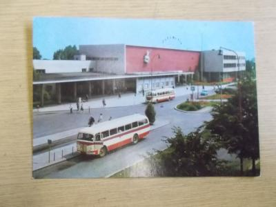 Doprava Nádraží Prostějov  pohlednice autobus  Škoda