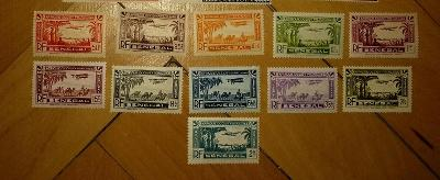 francúzsky Senegal 1935 ** letecké komplet yt. PA 1-11