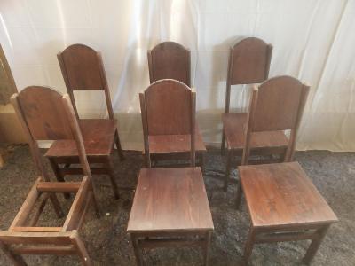 Masivní židle 6 ks