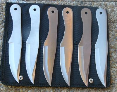 Házecí - vrhací nůž 6 kusů 21,5 cm