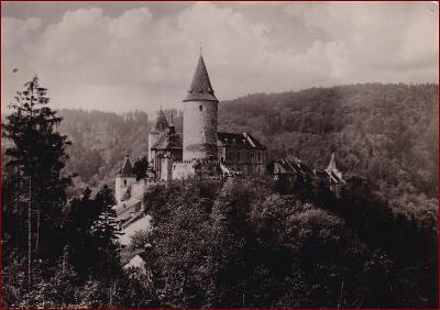Křivoklát * hrad, celkový pohled, krajina * Rakovník * V323