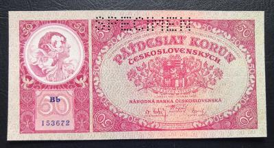 50 korun 1929,perforovana,stav UNC !!