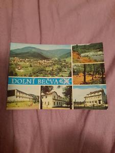 Pohlednice Dolní Bečva,prošlé poštou