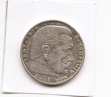 Stříbrná mince Německo  5 marek 1936 Hindenburg