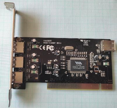 Řadič USB VIAUSB20 DH300-11 adapter 3+1x USB 2.0 PCI