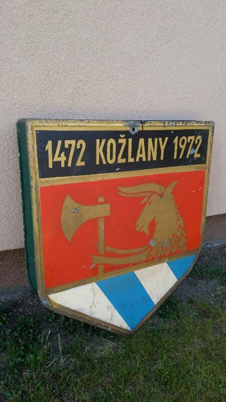 Stará plechová HORNICKÁ CEDULE 1472 KOŽLANY 1972 - Ostatní