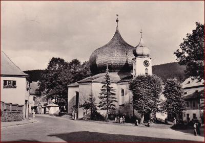 Železná Ruda * kostel, náměstí, část města * Klatovy (Šumava) * V752