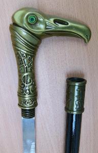Vycházková hůl s ostrým mečem pták