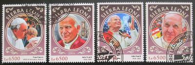 Sierra Leone 2016 Papeži Mi# 7703-06 Kat 12€ 2309