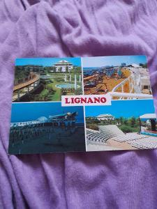 Pohlednice Lignano,neprošlé poštou