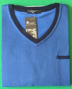 Pánská noční košile s krátkým rukáv vel. 3XL, 4XL, 5XL(10)