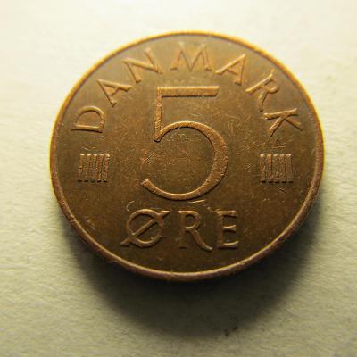 Dánsko - 5 Ore 1975
