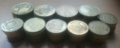 Konvolut 100 mincí Izraele