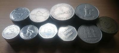 Konvolut 100 mincí Emirátů