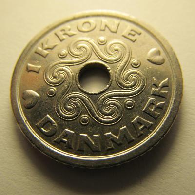 Dánsko - 1 Krone 1992