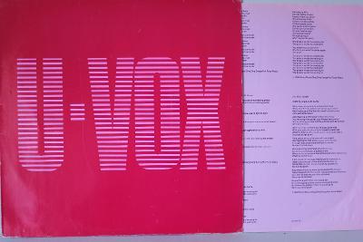 Ultravox – U-VOX LP 1986 vinyl Germany 1.press VG+