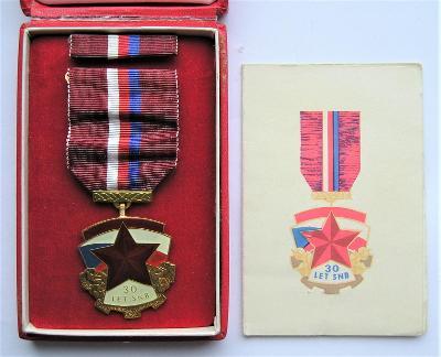 Medaile s dekretem - 30 let SNB