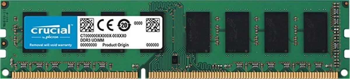 16GB nová značková 1600MHz DDR3 do PC Crucial dual voltage záruka