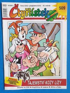 Čtyřlístek č.509, Tajemství kozy Lízy, 7/2011,VÝBORNÝ TOP STAV + DÁREK