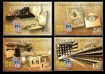 Turecko 2015 známky Mi 4210-4213 ** pošta poštovní historie dopis