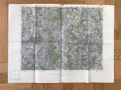 Vojenská mapa – Jihlava, 1:75 000 (1928)