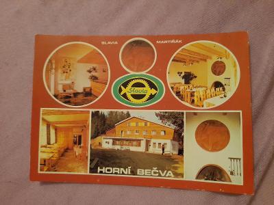 Pohlednice Horní Bečva,prošlé poštou