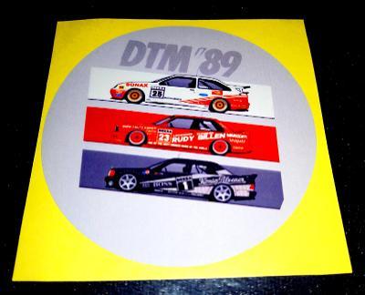 DTM 89 (Ford+BMW+Mercedes), bílá samolepka pr.7-(1x)