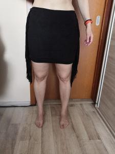 Dámská sukně s třásněmi