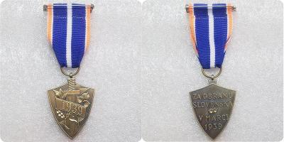 Za obranu Slovenska V MARCI 1939 medaile kopie