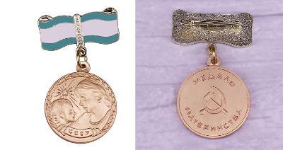 RUSKO CCCP Medaile MATEŘSTVÍ Ist replika