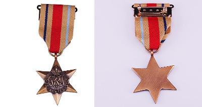 VELKÁ BRITÁNIE JAR Medaile Hvězda Afriky The Africa Star kopie