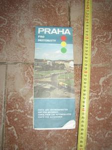 mapa Praha pro motoristy 1989