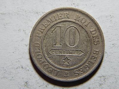 Belgie F. legenda 10 Centimes 1862 XF-UNC č24347