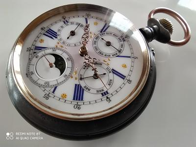 Velké lunární kapesní hodinky