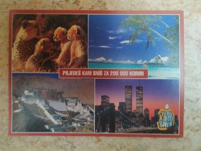 Pohlednice gepard gepardi palma moře New York (WTC) Lhasa reklama