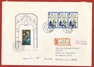Registrovaný Dopis - Obálka - Německo BRD Berlin 1980