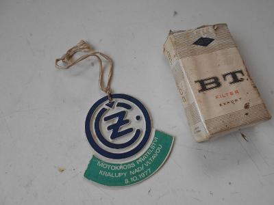 Odznak - plastické označení pro motokrossového jezdce - KLATOVSKÝ