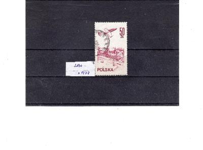 Polsko ražené známky  Mi  2540 letadlo nad městem