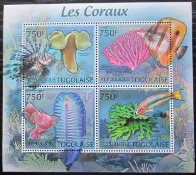 Togo 2012 Ryby a korály Mi# 4413-16 Kat 12€ 2261