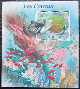 Togo 2012 Ryby a korály Mi# Block 699 Kat 12€ 2261
