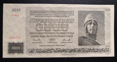 5000 korun 1944,neperforovana,stav UNC !!