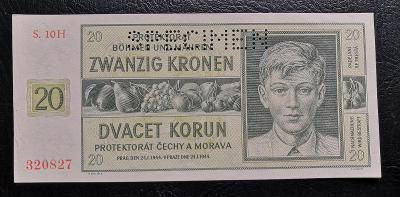 20 korun 1944,perf. serie H stav 0