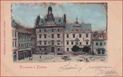 Kolín * budova radnice, pohled na část náměstí * M186