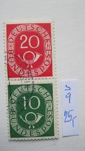 Německo BRD - razítkované známky - trubky katalogové číslo S 9