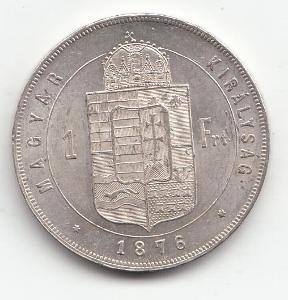 """Fr.J.I.,1 zlatník 1876 KB """"R"""" - mimoriadna zachovalosť TOP, UNC od 1Kč"""