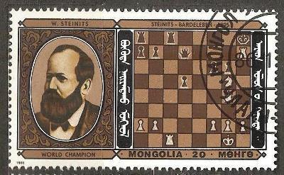 Sport Mongolia 1986 sach Steinitz ine raz.