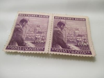 staré známky - PROTEKTORÁT 60+140 REICH HITLER