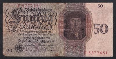 VZÁCNÁ 50 MARKA 1924 - ZACHOVALÁ