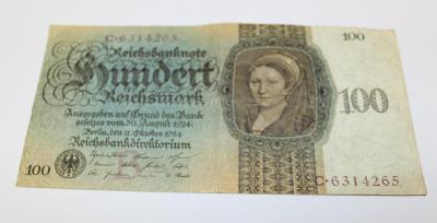 100 MAREK 1924 NĚMECKO P171 z oběhu /P145/