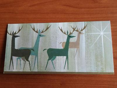 Rozevírací přáníčko jelen jeleni novoroční Nový rok